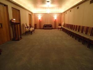 Our chapel also serves as a visitation room